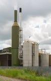 Cheminée industrielle verte Photographie stock