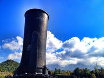 cheminée locomotive Images stock