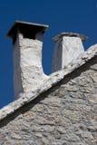 Cheminée méditerranéenne sur l'île adriatique Brac Photographie stock libre de droits