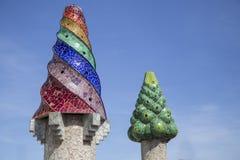 Cheminées de Gaudi Image stock