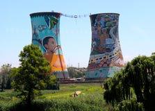 Cheminées de Soweto Photographie stock libre de droits