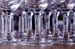 Cheminées des glaces de vin Photos libres de droits