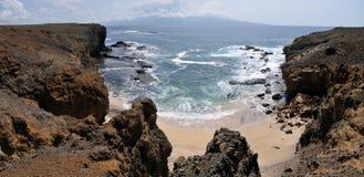 Chemin à échouer dans les falaises Photo stock