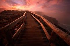 Chemin à l'aube Photographie stock libre de droits
