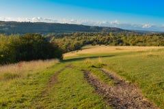 Chemin à la colline de boîte, Surrey Images stock