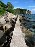 Chemin à la plage photos libres de droits