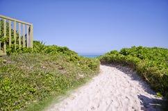 Chemin à la plage Photographie stock libre de droits