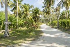 Chemin à la plage d'Argent de source d'Anse, La Digue, Seychelles Photos stock