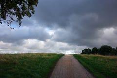 Chemin à travers la tempête Images stock