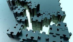 Chemin à travers un puzzle illustration stock