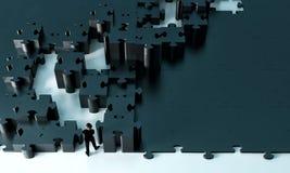 Chemin à travers un puzzle illustration de vecteur