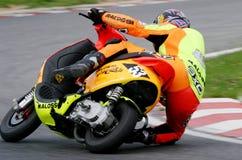 Chemin 2004 de scooter Image libre de droits