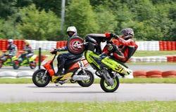 Chemin 2004 de scooter Photos libres de droits