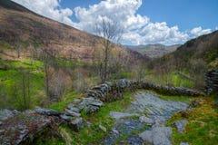Chemin antique dans les montagnes Image stock