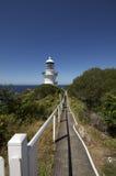 Chemin au phare au point de Sugarloaf Photographie stock