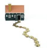 Chemin au propriétaire de logement - d'isolement Image stock