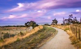 Chemin aux nuages Photographie stock
