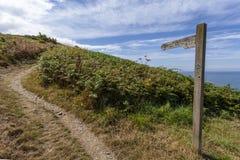 Chemin côtier de Ceredigion photos libres de droits
