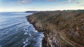 Chemin côtier du Pays de Galles photo libre de droits