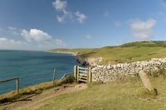 Chemin côtier de Dorset Rebord de danse Photographie stock