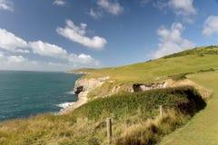 Chemin côtier de Dorset Rebord de danse Images libres de droits