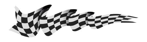 chemin checkered d'indicateur Photo libre de droits