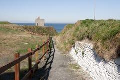 Chemin clôturé à la plage de Ballybunion Photo libre de droits
