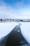 Chemin congelé Photo libre de droits