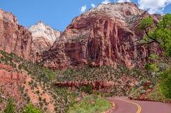 Chemin détourné scénique de l'Utah photos stock