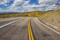Chemin détourné scénique 12 en haut de montagne de Boulder Photo stock