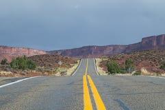 Chemin détourné scénique supérieur du fleuve Colorado, Utah, Etats-Unis Photos stock