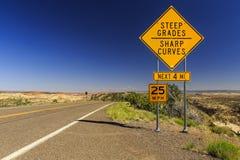 Chemin détourné scénique 12, Utah, Etats-Unis Images stock
