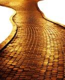 Chemin d'or Photo libre de droits