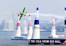 Chemin d'air de Red Bull au port de New York Photographie stock libre de droits