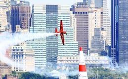 Chemin d'air de Red Bull au port de New York Photo libre de droits