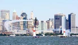Chemin d'air de Red Bull au port de New York Photographie stock