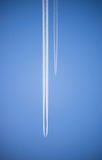 Chemin d'avion de ligne Photo stock