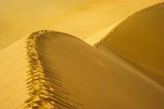 Chemin d'empreinte de pas sur la dune de sable Photo stock
