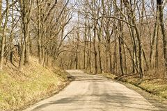 Chemin d'enroulement Image stock