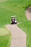 Chemin d'enroulement de chariot de golf Image stock