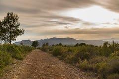 Chemin dans Castellon, Espagne Image libre de droits