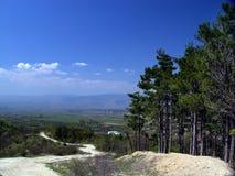 Chemin dans la montagne Image libre de droits