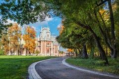 Chemin dans Tsaritsyno Photos libres de droits