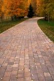 chemin de 3 automnes Photos libres de droits