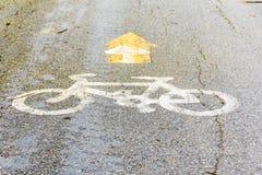 Chemin de bicyclette en parc Image stock