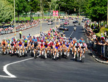 Chemin de bicyclette grand de prix de Montréal Images stock