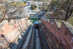 Chemin de câble à Buda Castle Photos libres de droits