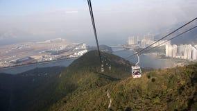 Chemin de câble dans Lantau, Hong Kong Photographie stock