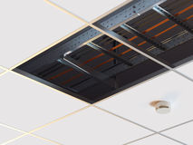 Chemin de câbles d'échelle Image stock