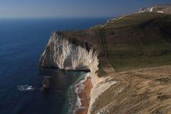 Chemin de côte sud dans Dorset Photos stock